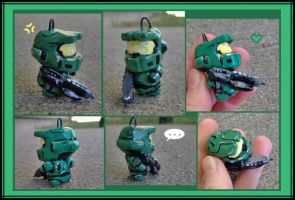 Master Chief Charm by bezzalair