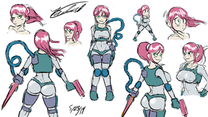 Space Girl Sketches by Twisted4000