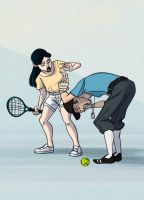 Tennis Accident by MultiverseCafe