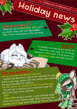 Holiday news! by Ashley-Arctic-Fox