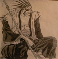 Zaraki Kenpachi by captain-Jane