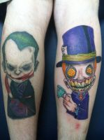 Joker and Mad Hatter tattoo... by Threedayslong
