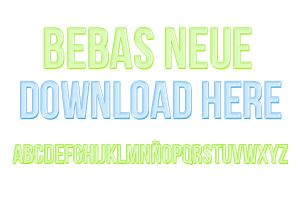 Bebas Neue Font by editionrocks