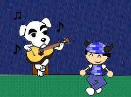 Singing in the Rain by BakaBlue