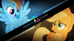 Rainbow Dash and Applejack by derplight