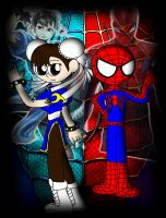 Spider-Man and Chun-Li again by Mosqueda29