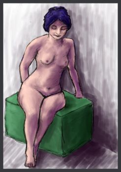 Nude figure study by Atomixpenguin
