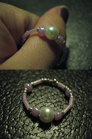 Crafted Pink Beaded Ring 1 by sampdesigns
