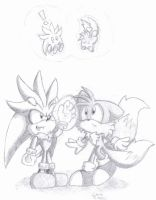 Silver, Tails and Chao- Levitation by SonicSketch