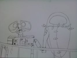 wall-e drawing- outline only by callumford