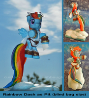 Rainbow Dash as Kid Icarus Pit cosplay (blindbag) by Bearded-Brony