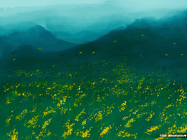 SpeedPainting - Tryn Mountains by Pepse