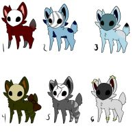 Maskees batch two-Adoptables 3/6 OPEN by InuLover097