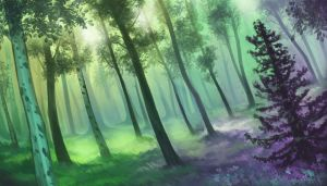 mixed forest by notya-chan