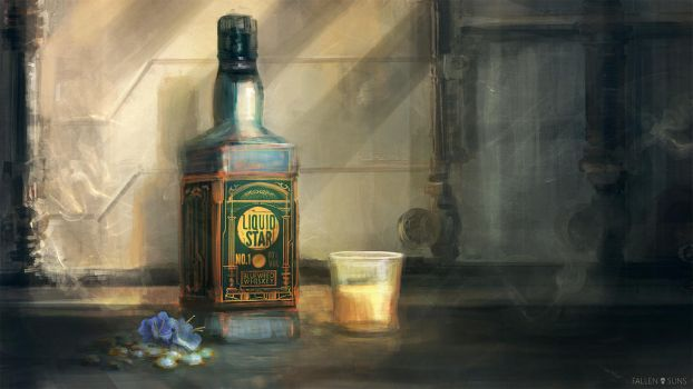 Fallen Suns: Liquid Star Whiskey by MacRebisz
