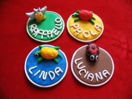 Polymer clay placeholders by StregattaPuponzi