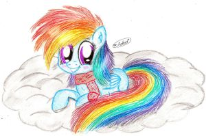 Filly Rainbow Dash (rescanned) by mrPudding701