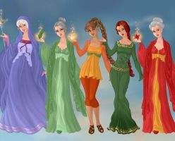 Non/Disney Goddesses - F by M-Mannering