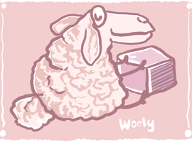 Wooly the sheep by clotus
