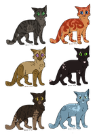 Cat Adopts 6 [0/6 CLOSED] by RibbonWren-Adopts