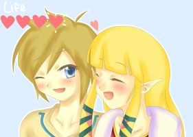 Zelink: Your love for Zelda increased by 1 by Pandykissu