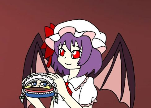 Sakuya the Maid Burger and Remilia by CloneWarrior85
