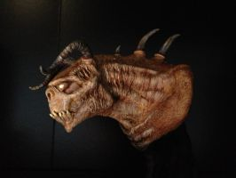 Deathclaw bust (*painted* profile view) by matternicuss