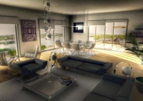 Living Room - HDR by AfroAfrican