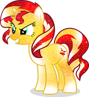 Galaxy Sunset Shimmer by DigiRadiance