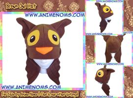 Brown Owl Hat by AnimeNomNoms