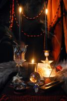 Samhain 2010 Altar by KittieWarner