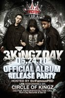 3 KINGZ DAY Flyer by V1sualPoetry