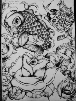 finished tattoo art by Jeez--Louise