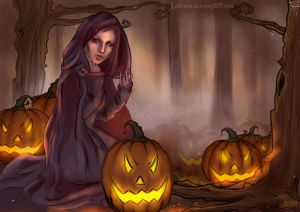 Queen of the Pumpkin Patch by Lodchen