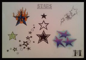 Star tattoo flash by crashchick