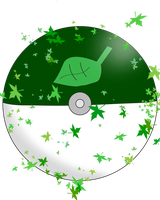 Grass Pokeball by water16dragon