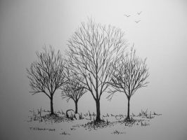 Trees in ink by TomKilbane