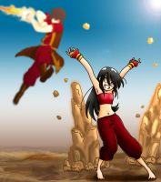 Toph vs Zuko by CrimsonPumpkin