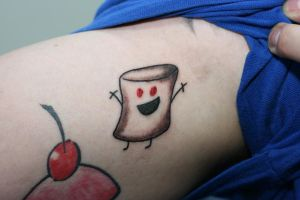 Shifty Marshmallow by Lucky-Cat-Tattoo