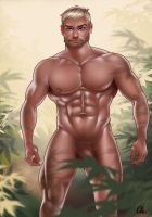 Jungle Male Pin Up by MaleArtist