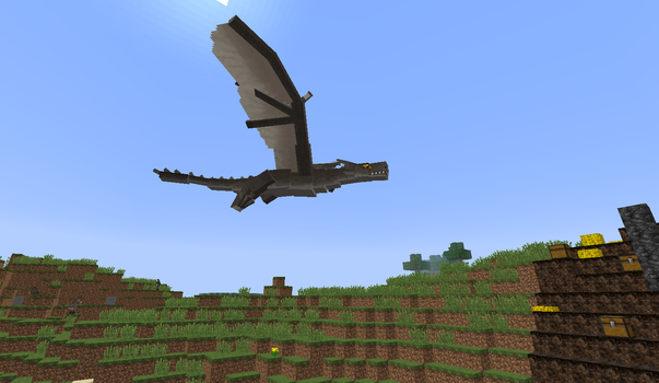 Playing in Minecraft(Mods): Guarding nest by MrMixser