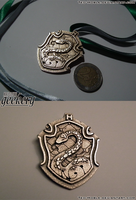 Hogwarts House Crest Pendant - SLYTHERIN by Teo-Hoble