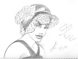 Girl in a hat by Theamat