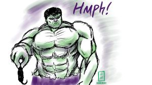 Hulk Sketch by Casualmisfit
