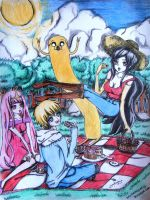 adventure time group pic anime version by animeeumei01