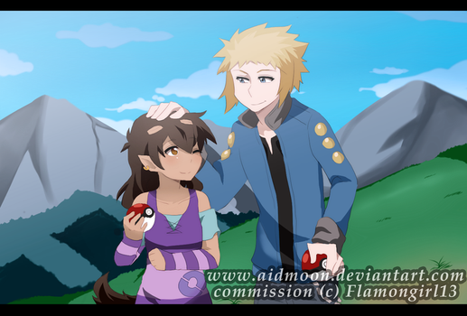 Commission 02 [flamongirl13] by aidmoon