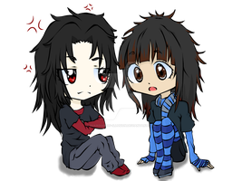 Kasumi and Lawliet ewe by Guardian-of-Illusion