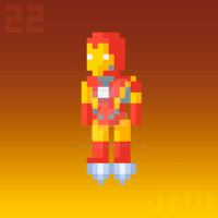 Daily Pixel Art 022 | Ironman by Jevi93