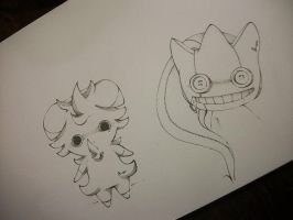 Espurr and Banette by B-or