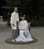 Wedding at Meiji Shrine by AndySerrano